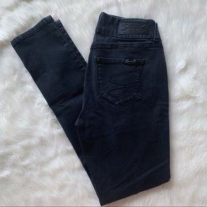 7 For All Mankind Black Skinny Jeans Tummyless 4